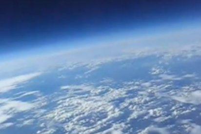 La Tierra, como nunca la había visto antes, desde un globo de helio