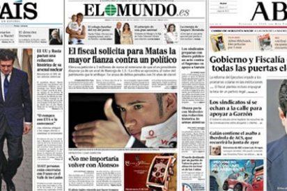 Que Jaume Matas era el titular de apertura, lo tenían todos claro menos La Razón; pero ¿y la foto?