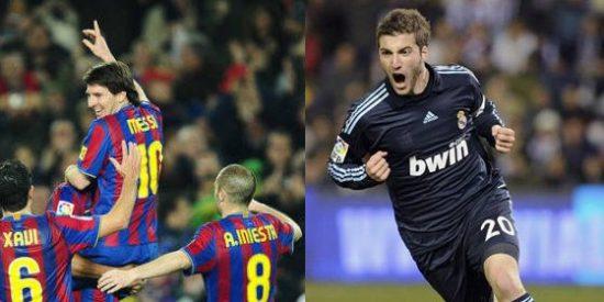 Un hat-trick de Messi y otro de Higuaín mantienen la lucha entre Real Madrid y Barcelona