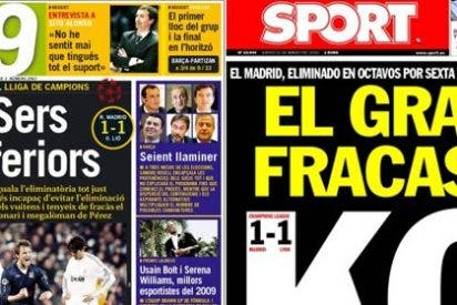 La prensa catalana se cachondea del fracaso del Real Madrid en Europa