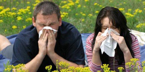 pareja con síntomas de alergia