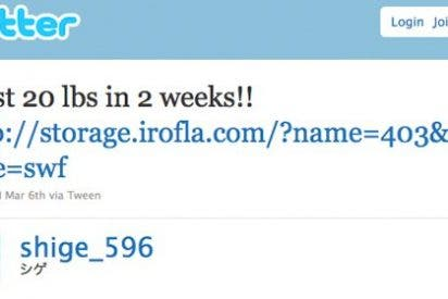 Hackers atacan cuentas de Twitter para hacer SPAM de dietas 'milagro'