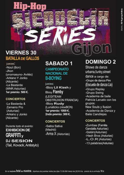 Gijón.-La ciudad acoge a partir del vierne el festival de música y arte urbano 'Sicodelik Series'