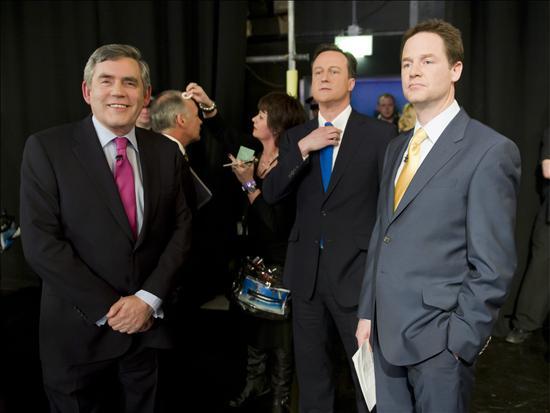 Los líderes de los principales partidos británicos se enfrentan al primer debate televisado de la historia