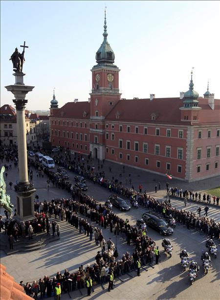 Los funerales del presidente polaco, Kaczynski se celebrarán con numerosas ausencias de estadistas