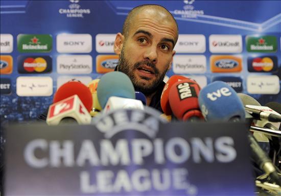 Guardiola dice que prefiere 14 horas de autobús que ver la semifinal por la tele