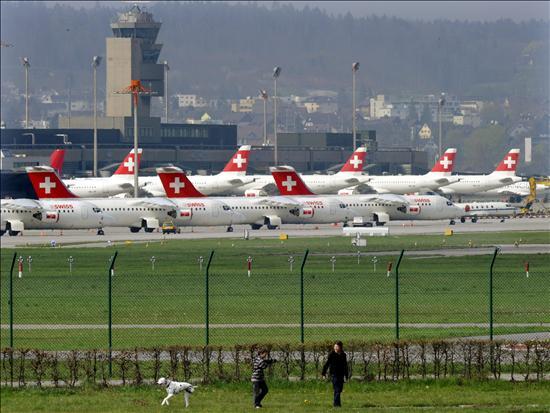 Suiza abrió su espacio al tráfico aéreo y se esperan ya los primeros aterrizajes