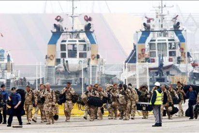 La armada británica recoge en Santander a 500 soldados de vuelta de Afganistán