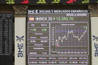 La Bolsa española cambia de signo a mediodía y el Ibex-35 cede el 0,93 por ciento