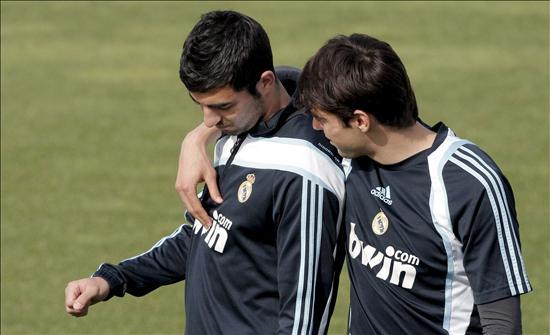 Kaká sigue al margen; Albiol y Raúl trabajan en solitario en el Real Madrid