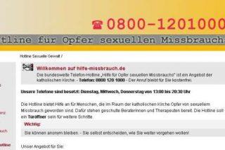La línea de la Iglesia alemana para víctimas de abusos se colapsó el primer día