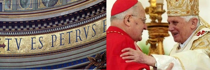 """Sodano al Papa: """"La Iglesia está contigo, dulce Cristo en la tierra"""""""