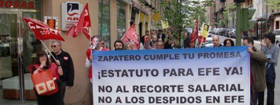"""Los trabajadores de Efe escriben una carta a Zapatero para pedirle que """"cumpla su promesa"""" y retome el Estatuto"""