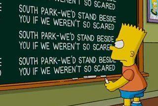 Los Simpson salen a defender a South Park