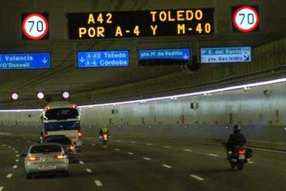 Mala señalización en los túneles de la M-30