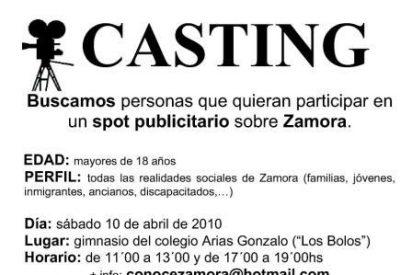 Casting de católicos en Zamora