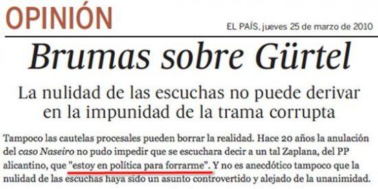 """Zaplana llama a 'El País' para pedirles que no perpetúen que la frase """"estoy en política para forrarme"""" es suya"""