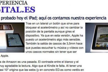 """""""El iPad realmente es algo así como un iPhone a lo grande"""""""