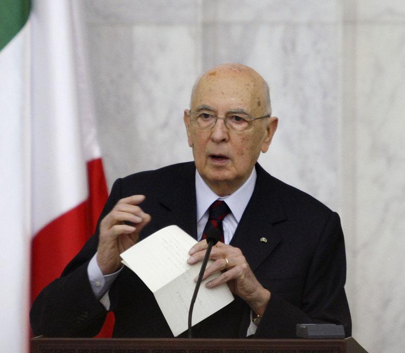 Napolitano rechaza cualquier intento de secesión en Italia