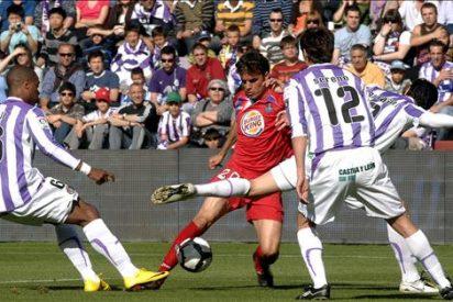 """0-0. El Valladolid """"encalla"""" ante un Getafe en inferioridad numérica"""