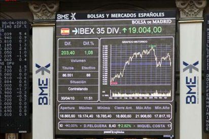 La Bolsa española inicia una nueva jornada en rojo y el Ibex-35 cae el 1 por ciento