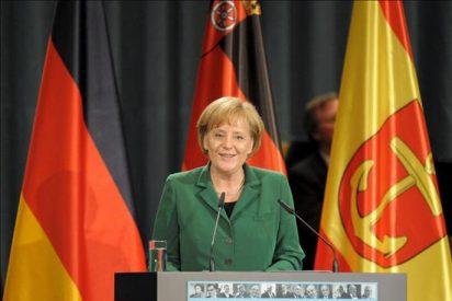 Una pistola de juguete causa alarma policial en un mitin de Merkel