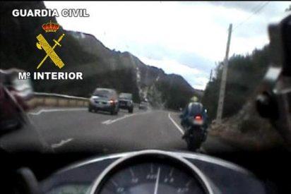 Detenido por conducir su moto a 154 km/h por una travesía limitada a 50 km/h