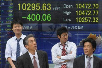 El Nikkei baja 331,10 puntos el 3,09 por ciento hasta los 10.364,59 puntos
