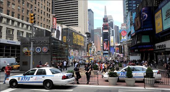 Una bolsa llena de botellas de agua hace cundir el pánico en Times Square