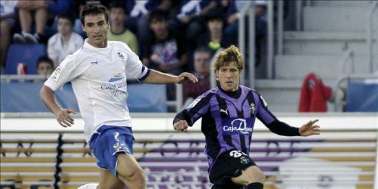 El jugador del Valladolid Alberto Marcos vuelve a entrenarse y puede estar disponible ante el Barcelona
