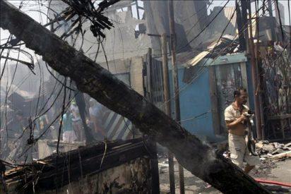 Un incendio en una barriada pobre deja a 4.000 personas sin casa en Filipinas