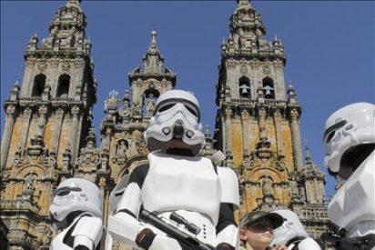 Darth Vader pasa revista al Ejército Imperial en la plaza del Obradoiro