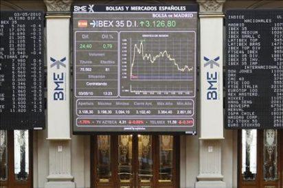 La Bolsa española cae el 4,03% a mediodía, lastrada por la gran banca