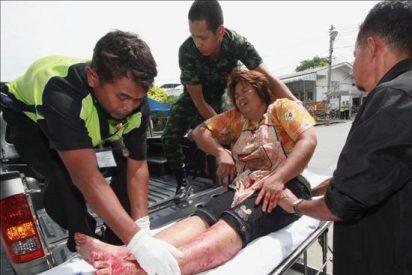 Dos muertos y 41 heridos en dos atentados en el sur musulmán de Tailandia