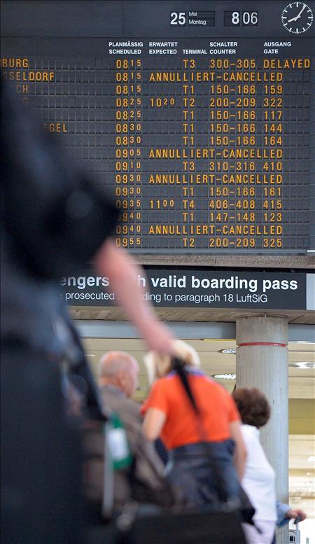Paros temporales causan retrasos y suspensiones en los aeropuertos berlineses