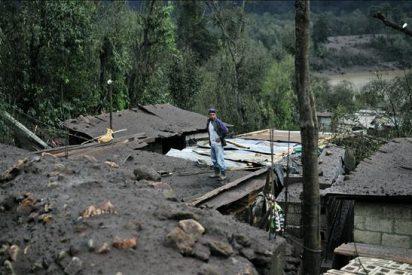 La naturaleza se ensaña contra Guatemala, después de la erupción, una tormenta