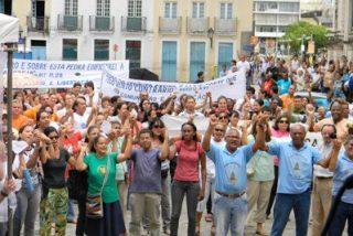 Apoyo al Papa de fieles de Bahía, en Brasil