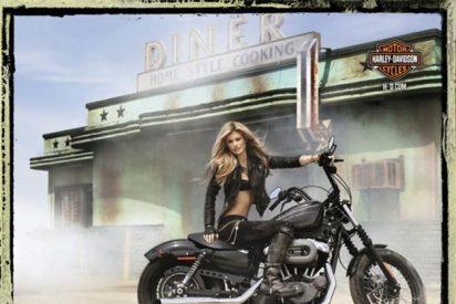 Marisa Miller, un 'ángel' sobre una Harley Davidson