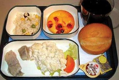 Los cinco peores menús de comida que las aerolíneas habrán servido nunca
