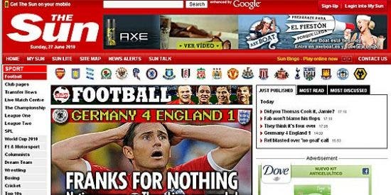 La prensa británica, entre el humor, la resignación y las críticas a Fabio Capello