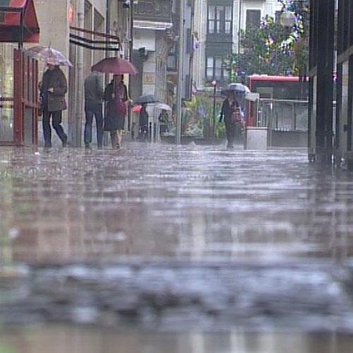 Alerta naranja en Navarra, País Vasco, Cantabria y Asturias por las fuertes lluvias
