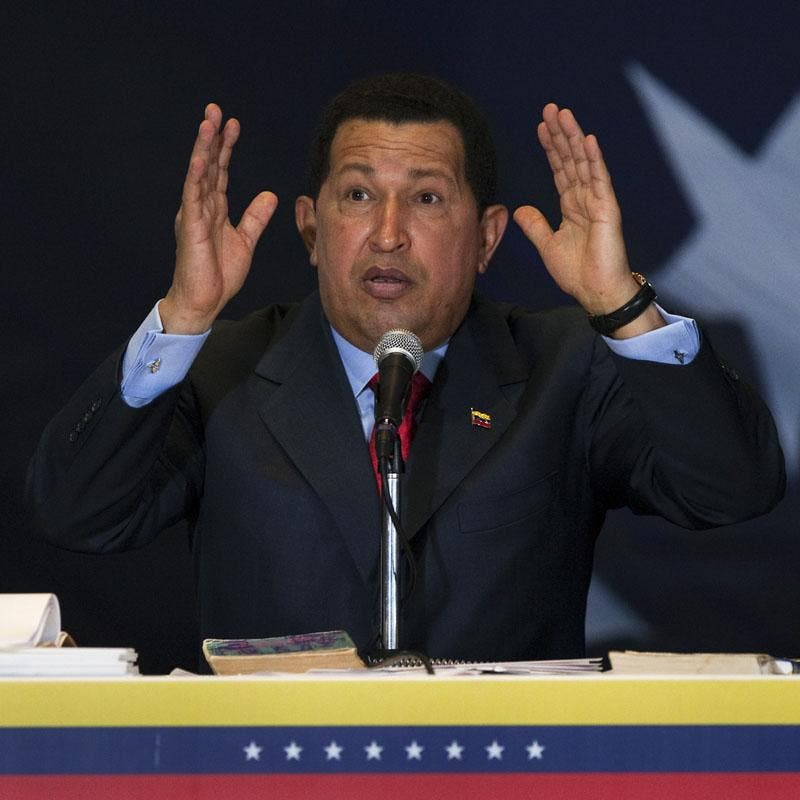Chávez cuestiona a la banca privada de Venezuela