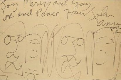 Una caricatura realizada por John Lennon, vendida por 45.000 euros