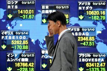 El índice Nikkei baja 44,79 puntos el 0,45 por ciento hasta 9.723,91 puntos