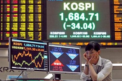 El índice Kospi baja 6,70 puntos, 0,40 por ciento, hasta 1.634,55 puntos