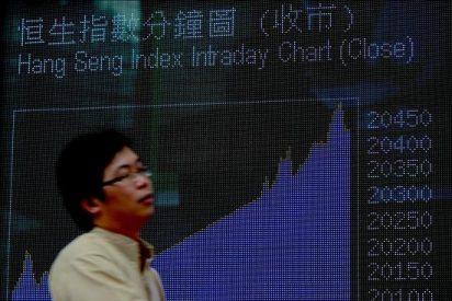 El índice Hang Seng abre con pérdidas de 164,62 puntos, el 0,84 por ciento