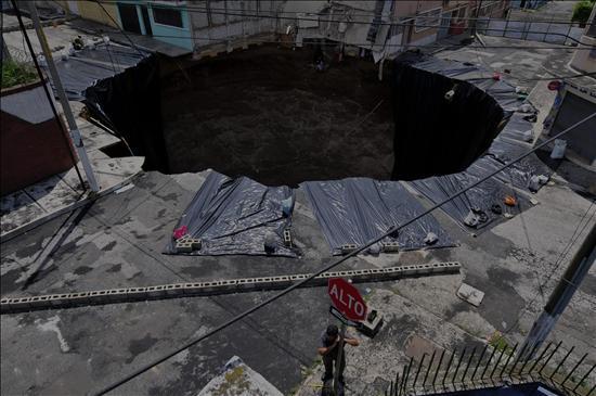 Los científicos no encuentran explicación al hoyo gigante causado por Agatha