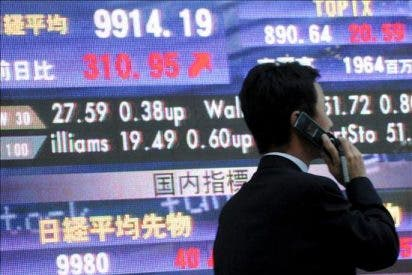 El índice Nikkei sube 52,66 puntos, el 0,56 por ciento, hasta 9.491,79 puntos