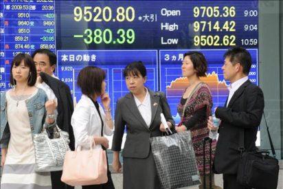 El índice Nikkei baja 33,89 puntos el 0,34 por ciento hasta 9.845,96 puntos