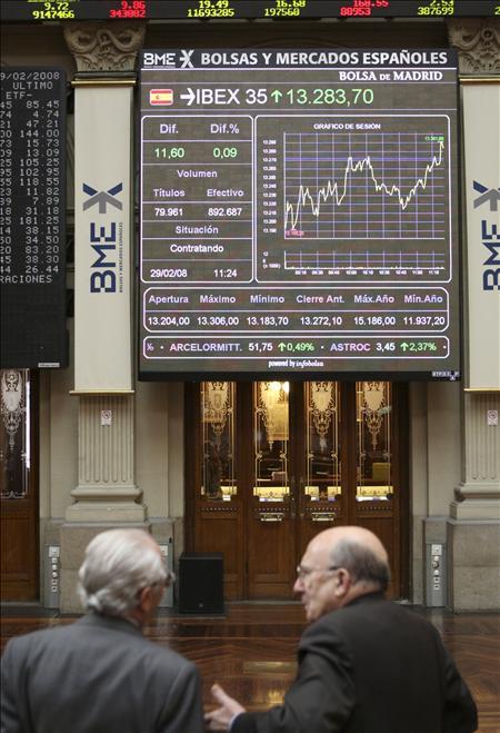 La Bolsa española abre en negativo y el Ibex cede el 1,09 por ciento
